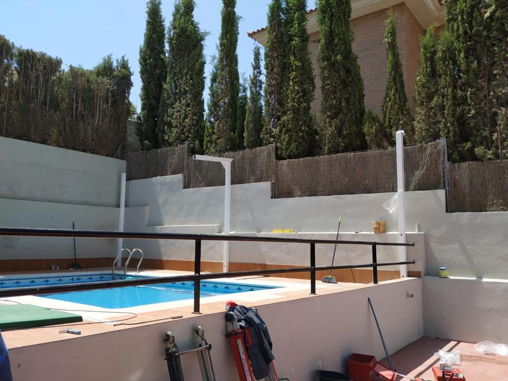 así era la piscina antes del cerramiento